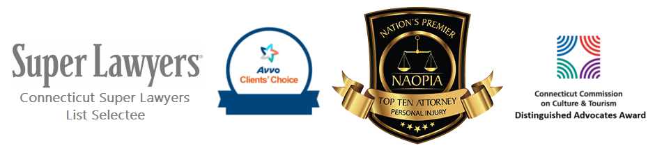 super lawyers, avvo client's choice, distinguished advocate's award, top 10 lawyers CT